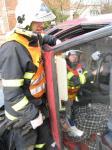 cvičení hasičů 22. 2. 2014